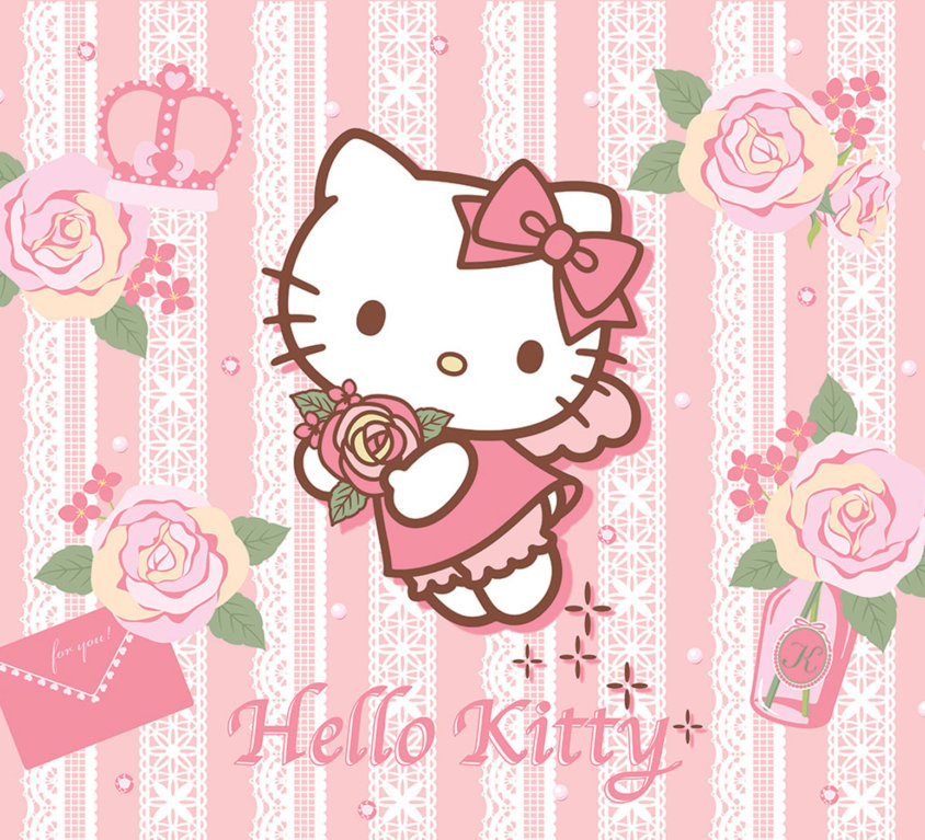 Hello Kitty Veggdekor – Roser
