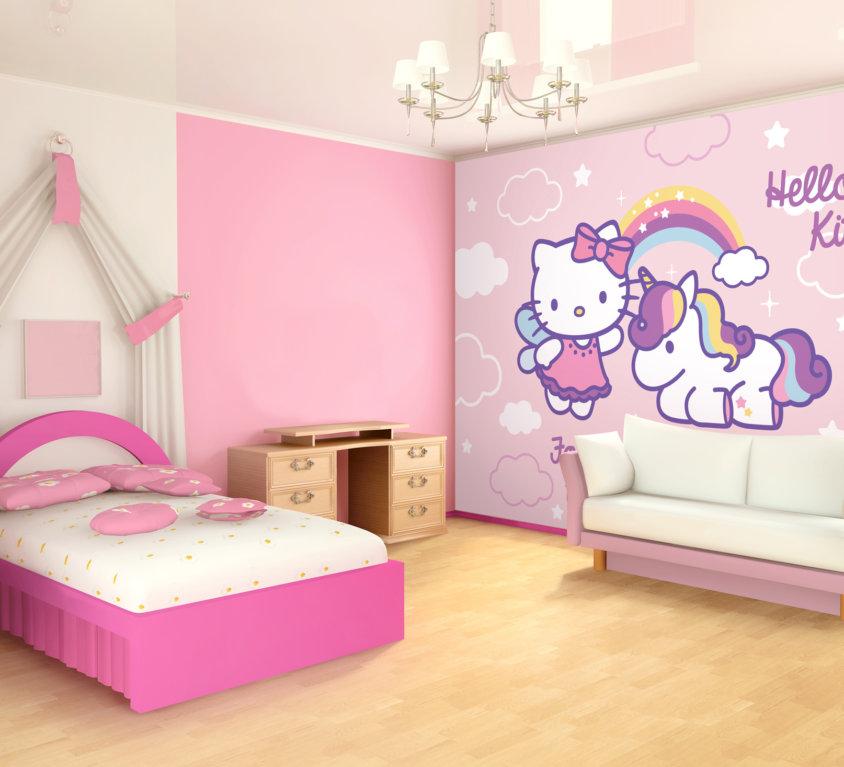 Hello Kitty Veggdekor – Regnbue