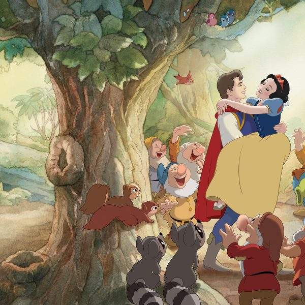 Disney Prinsesse Veggdekor – Snøhvit