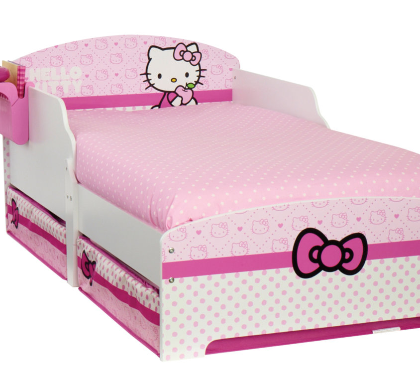 Hello Kitty Barneseng Med Oppbevaring