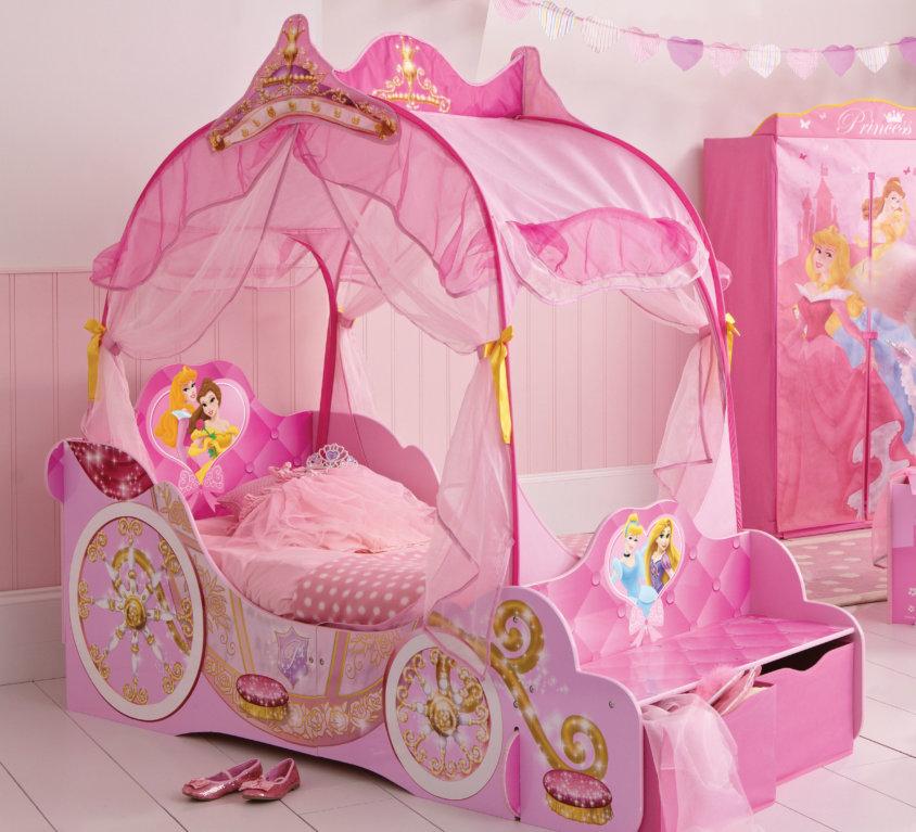 Komplett Sengepakke Med Disney Prinsesse Vognseng