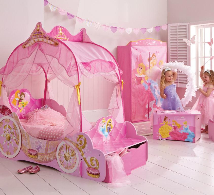 Komplett Barnerom Med Disney Prinsesse Vognseng