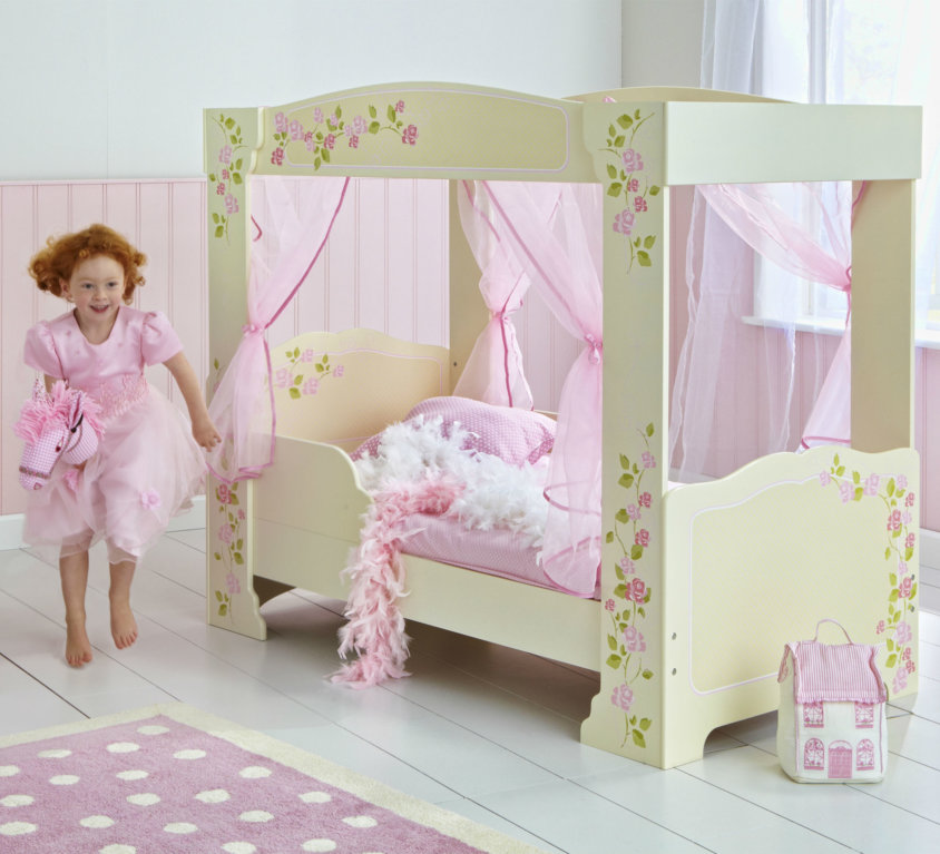 Girls Rose Four Poster Barneseng