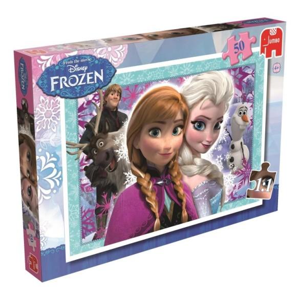 Disney Frozen Puslespill- 50 Biter