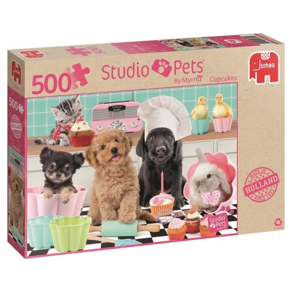 Studio Pets Cupcakes Puslespill – 500 Biter