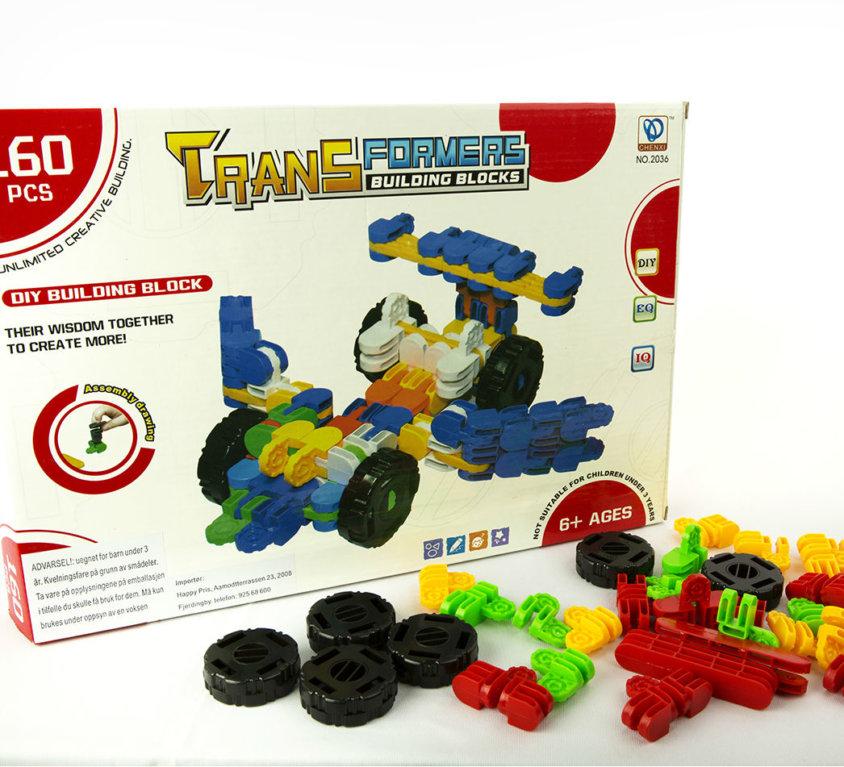 Transformers Byggeklosser – 160 Deler